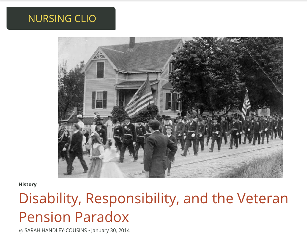 Disability, Responsibility, and the Veteran Pension Paradox