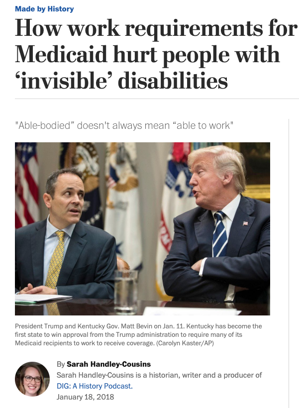 How work requirements for Medicaid will hurt people with disabilities