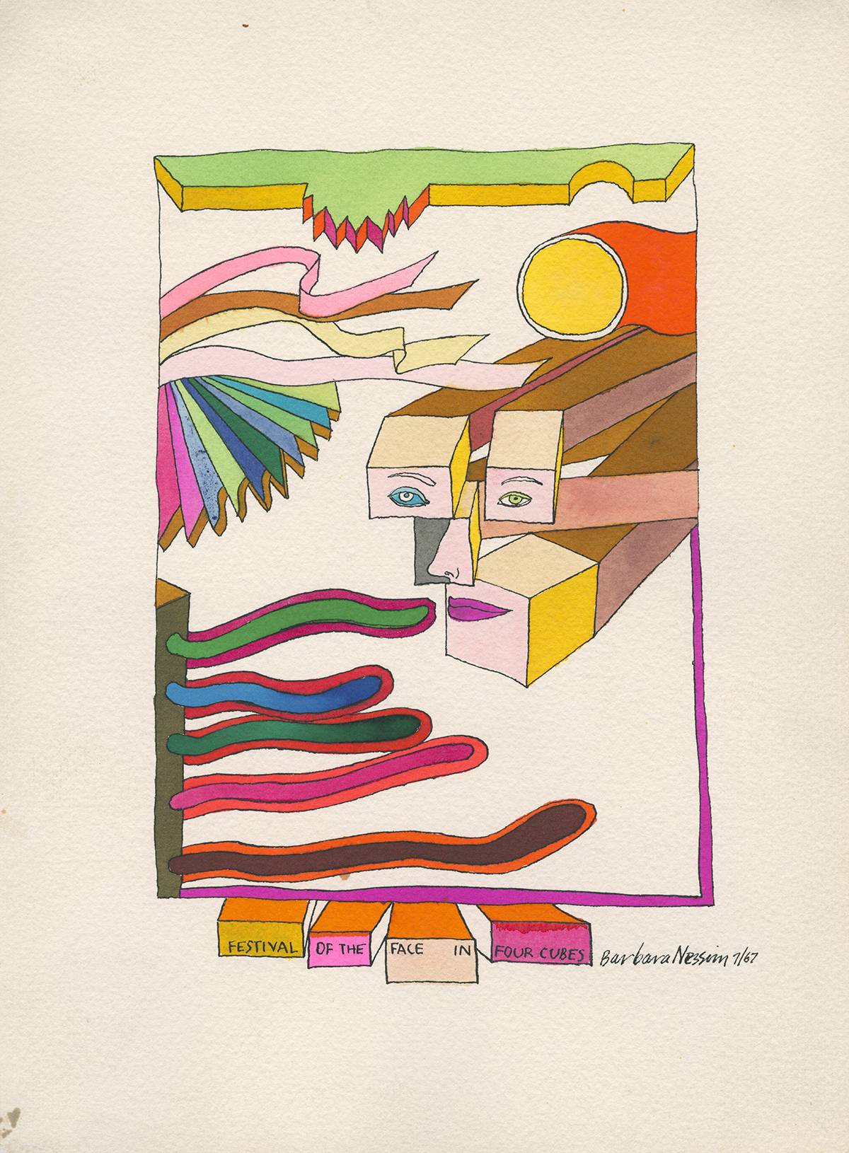 <i>Festival of the Face in Four Cubes</i>, 1967