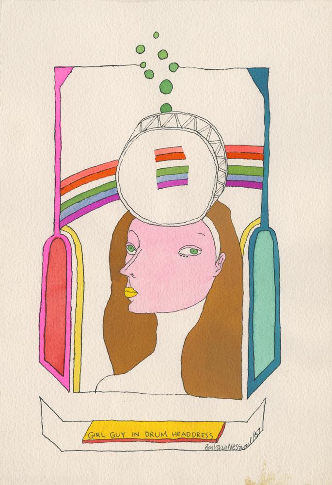 <I>Girl Guy in Drum Headdress</I>, 1967