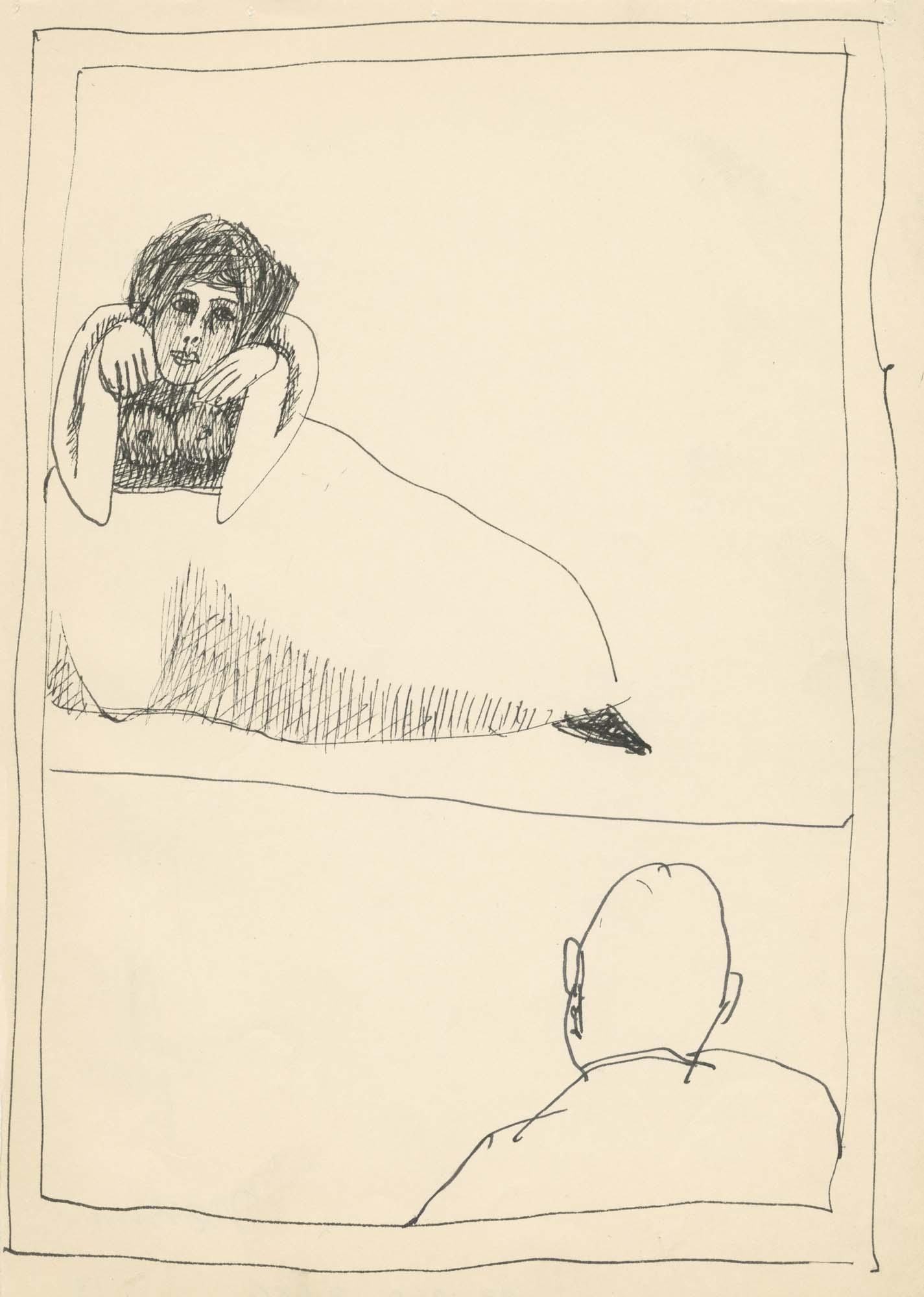 <i>Man Watching Cat Woman</i>, 1960