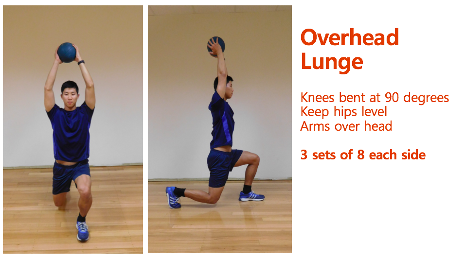Over head lunges