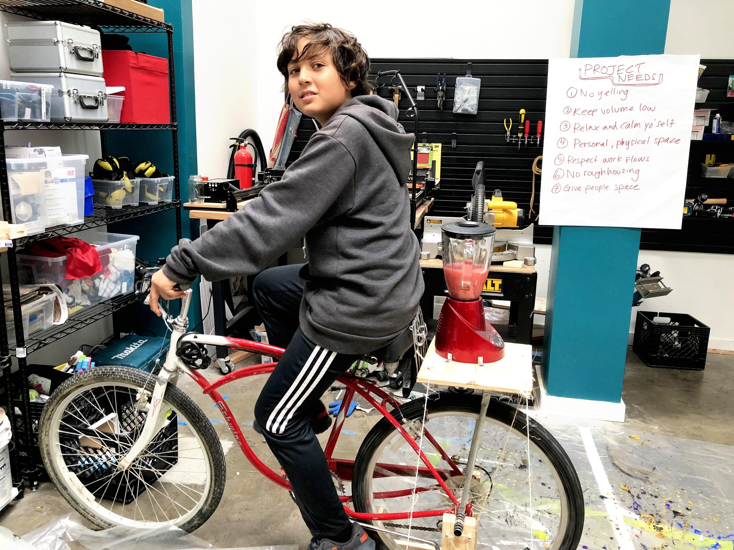 Bicycle-Powered Blender
