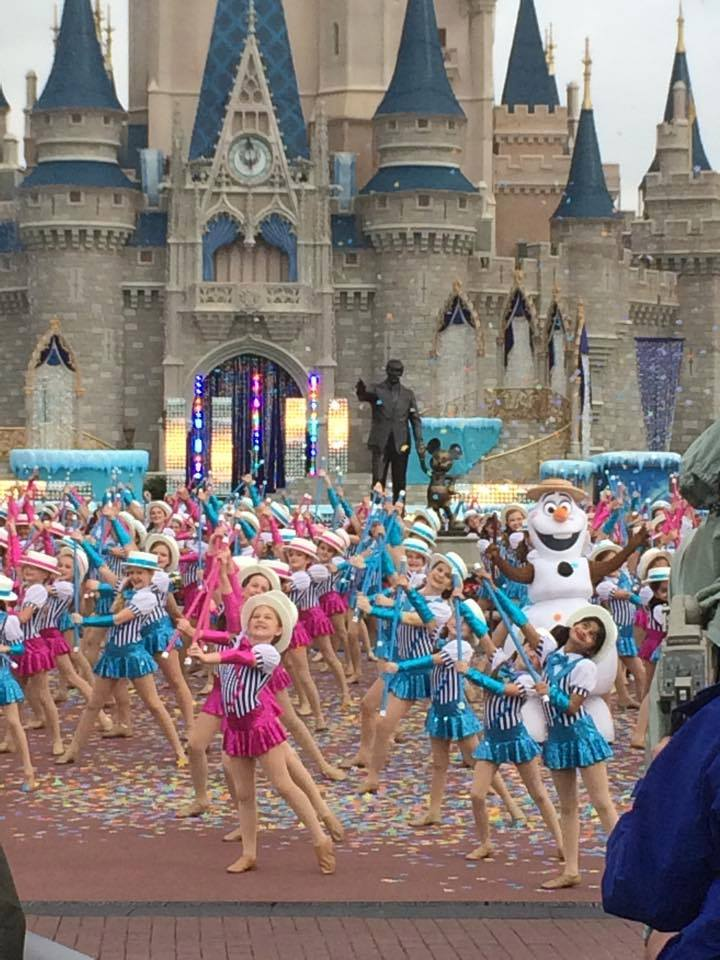 Elite Dancers performing at Disney World for the Christmas Day Parade televisedon ABC Christmas morning!