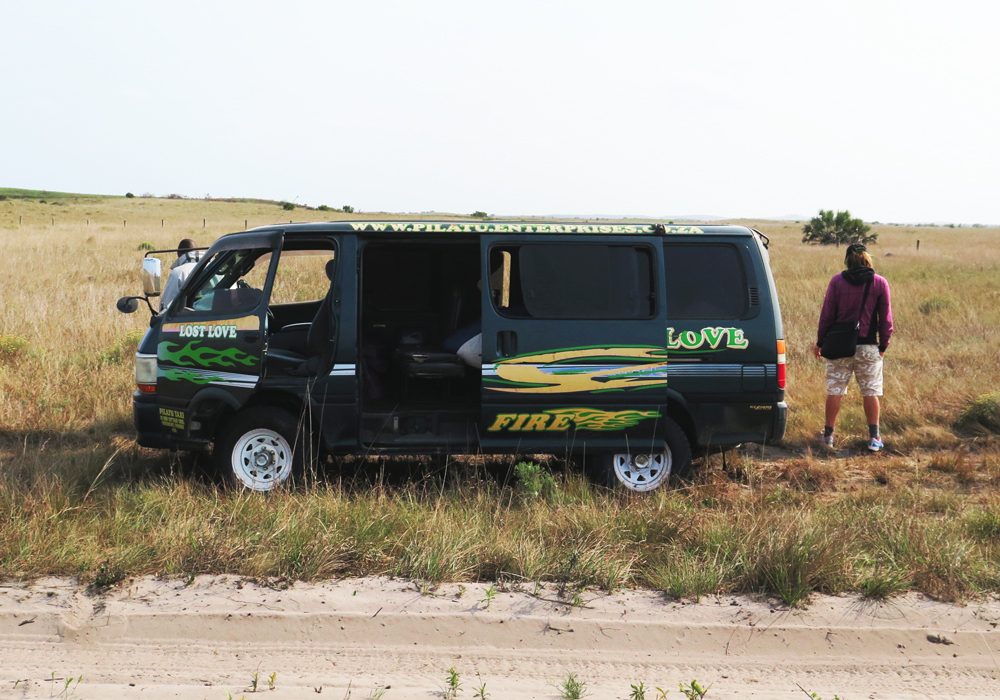 Pit stop during a southern African searching patrol