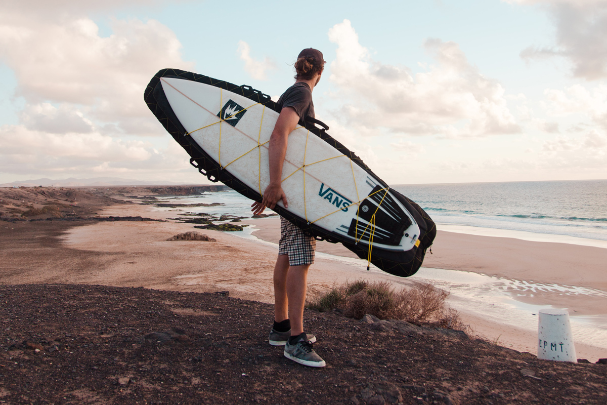 """""""Have produced a board bag that looks like nothing else out there"""" - — Giles Dean editor of Surf Europe Magazine —"""