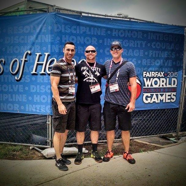 """#FBF to the 2015 World Police and Fire Games. I had the best support system built with the best training partners at every corner of my life. When we look at our support system, there's specific roles and levels for you and your Team.  The first level are the """"Partners"""". Here we are looking for two people who are as committed to your goals as if it were their own. Their job is to keep driving you and keep you focused on the end goal. They are as focused as if it were their own mission and give guidance through the process. This year @nweamer and @codyboretsky helped me as my Partners.  The second level are the """"Collaborators"""". The purpose of the Collaborators is to assist without taking it on as their own. These are more like your training team. They help keep you driven and focused in more of the daily training. To be successful you need about five Collaborators. For me it was @txenrique @steddy_p @mik3all3n @fredolopez21 @ffmiguelreyes  Because we had such a strong Team built WE were able to finish in Third place in my first International Competition.  #hernandezperformance #ganazapparel #xendurance #poweredbyfitbot #azffathletics #crossfit #corecrossfit #fitphx #onlinecoach or"""
