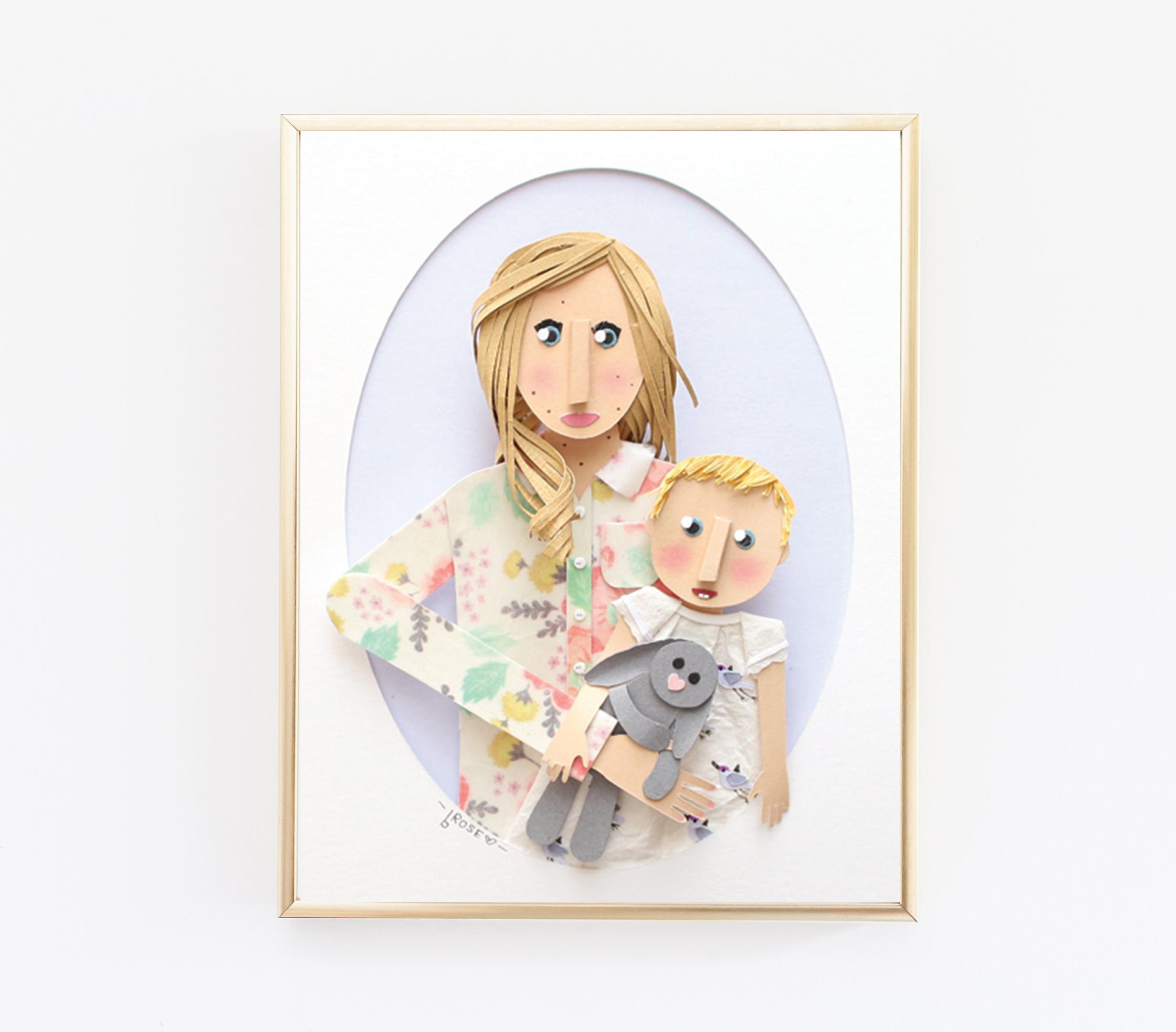 Custom Mom and Baby Portraits