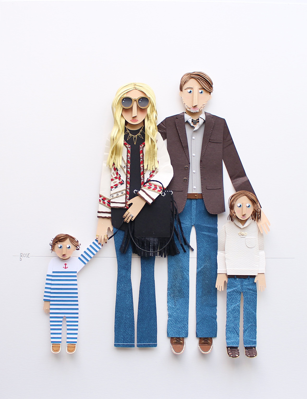 Rachel Zoe Family Portrait by Brittani Rose