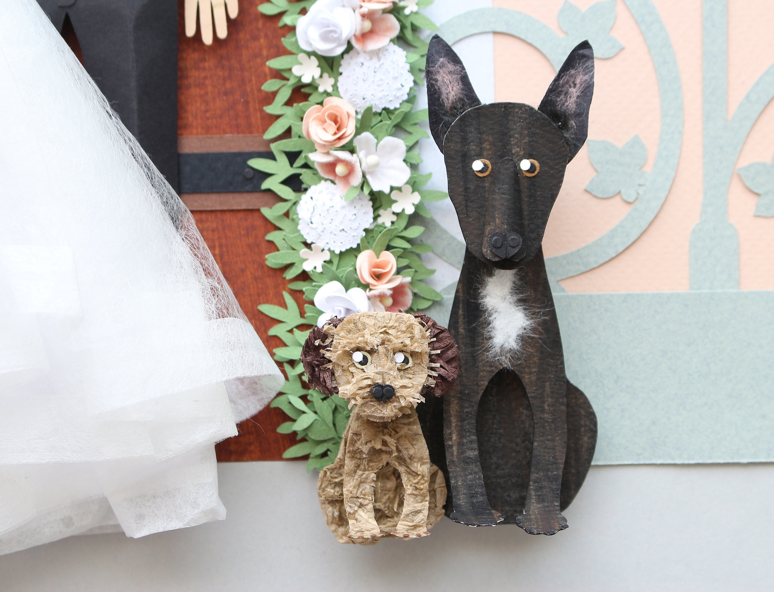 dogs made from paper