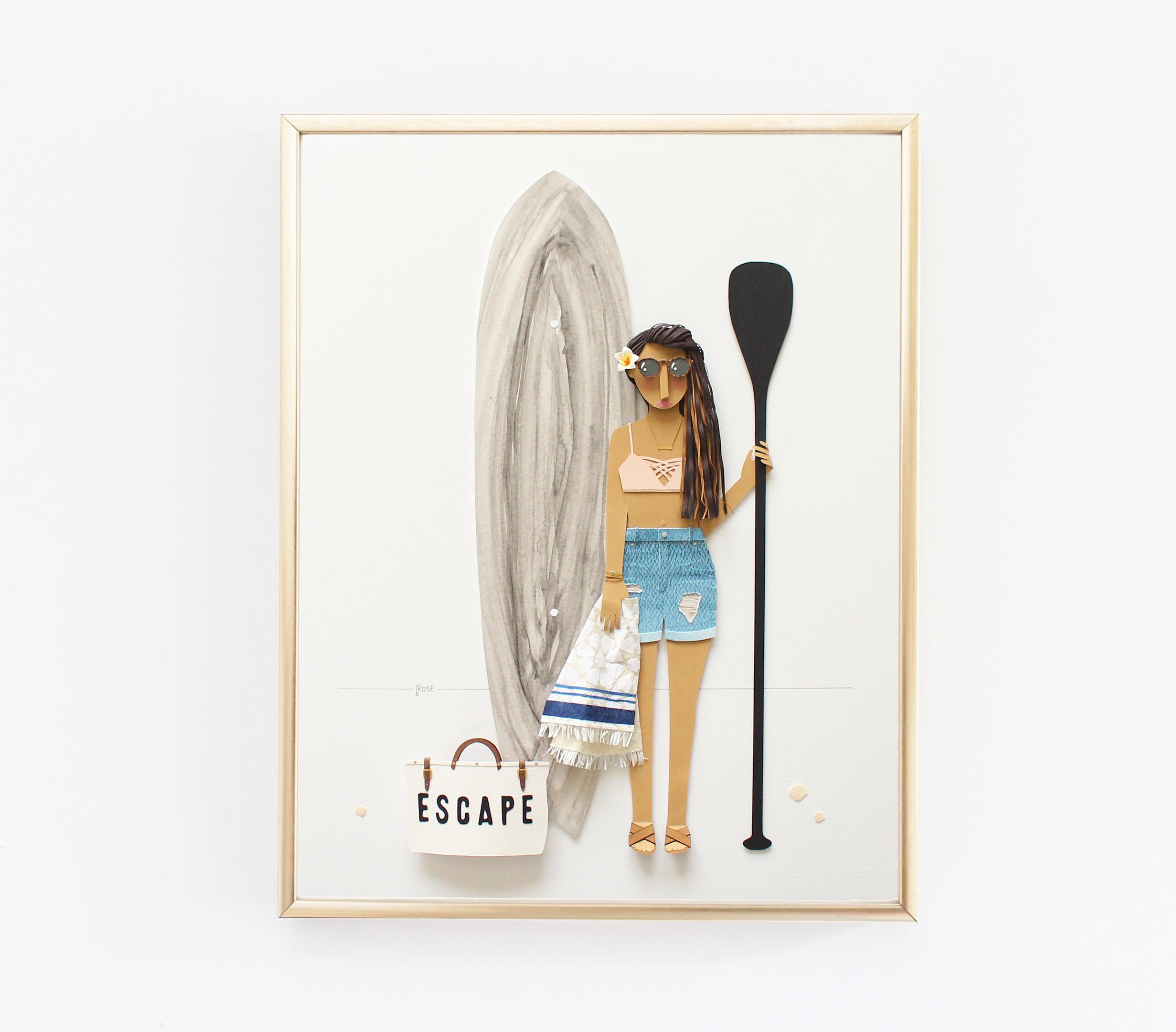 Elana Loo Paper Portrait