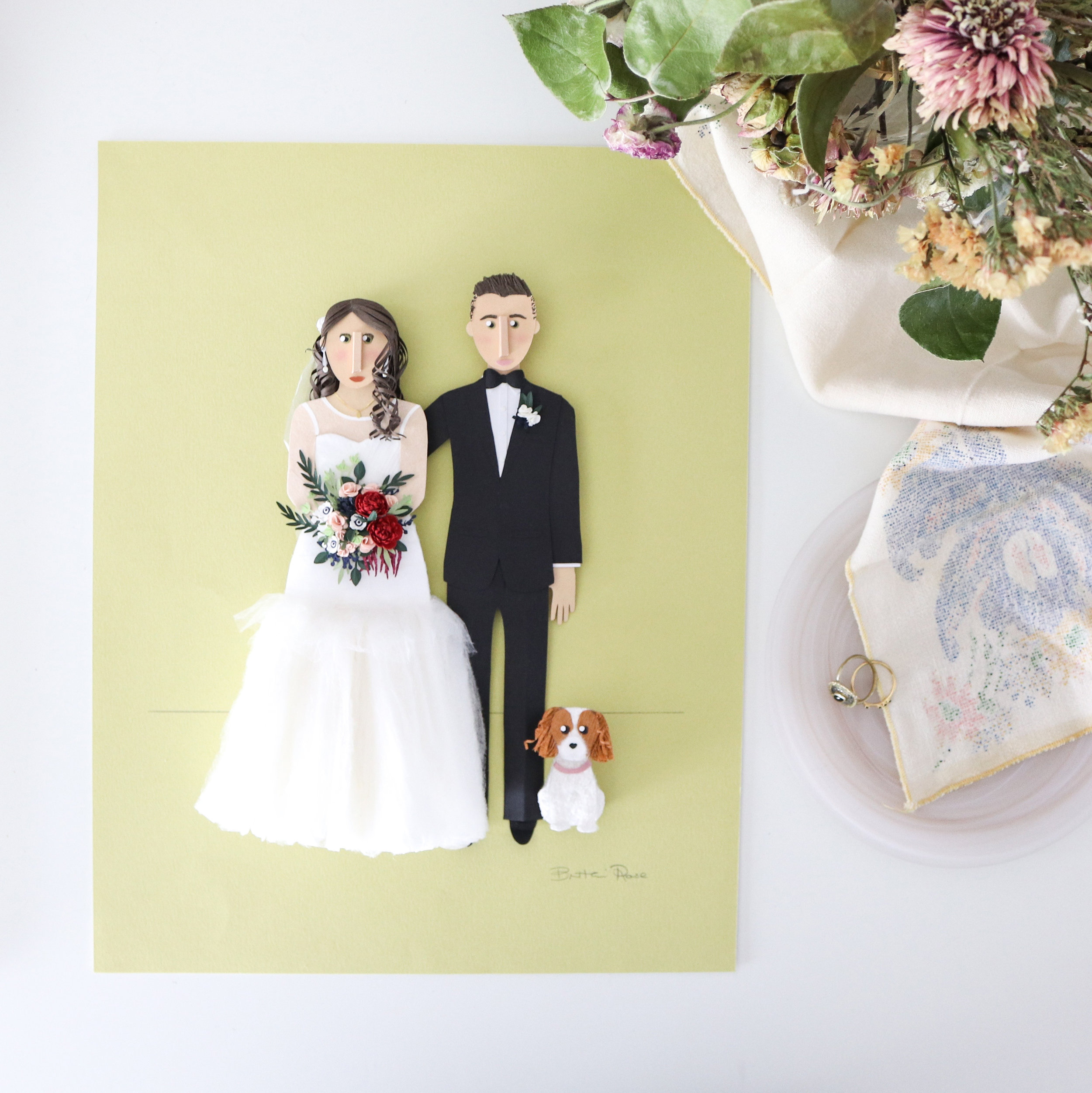Wedding Gift for Her on your one year anniversary by paper artist Brittani Rose.