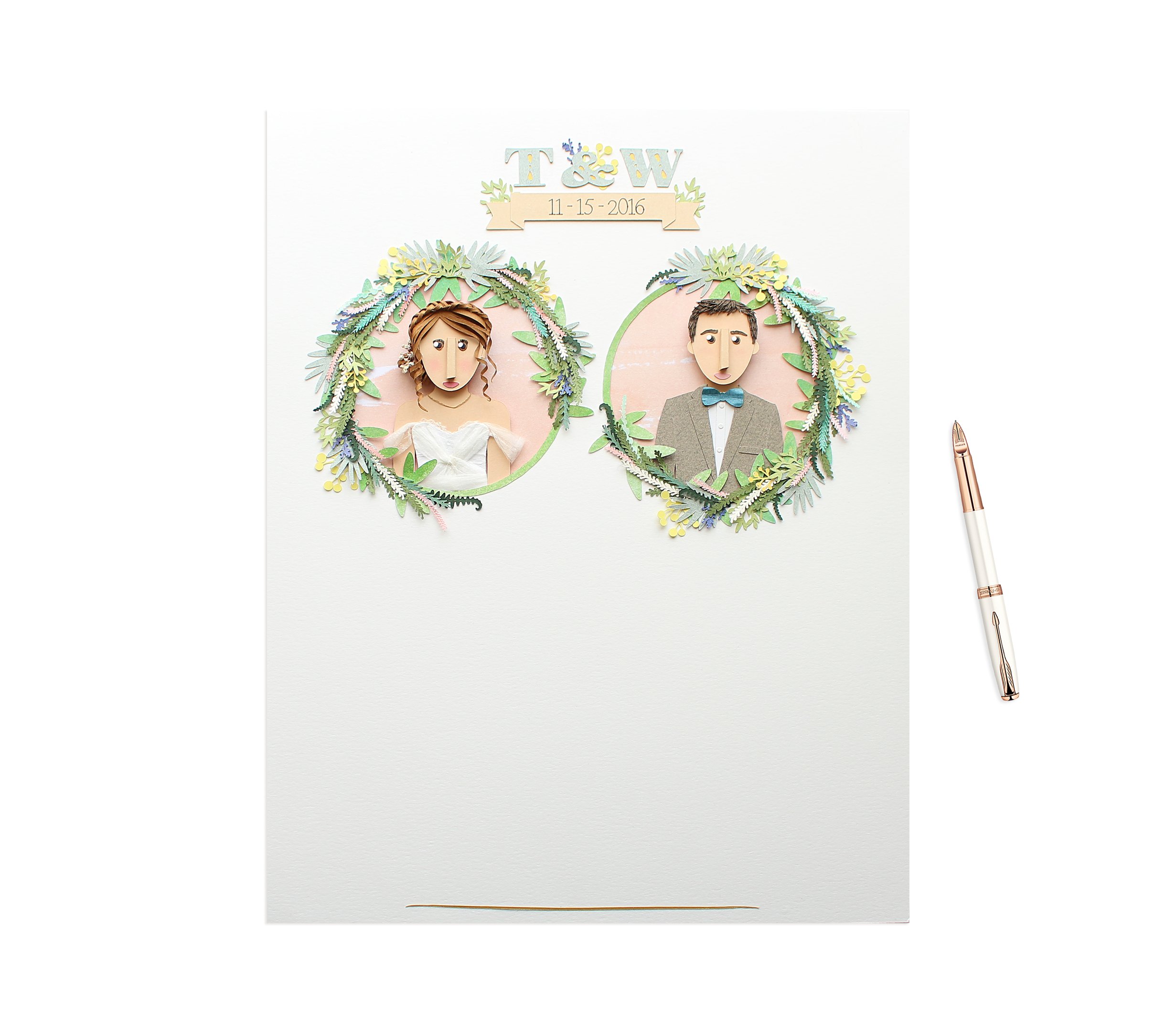 Wedding Day Of Guest Book
