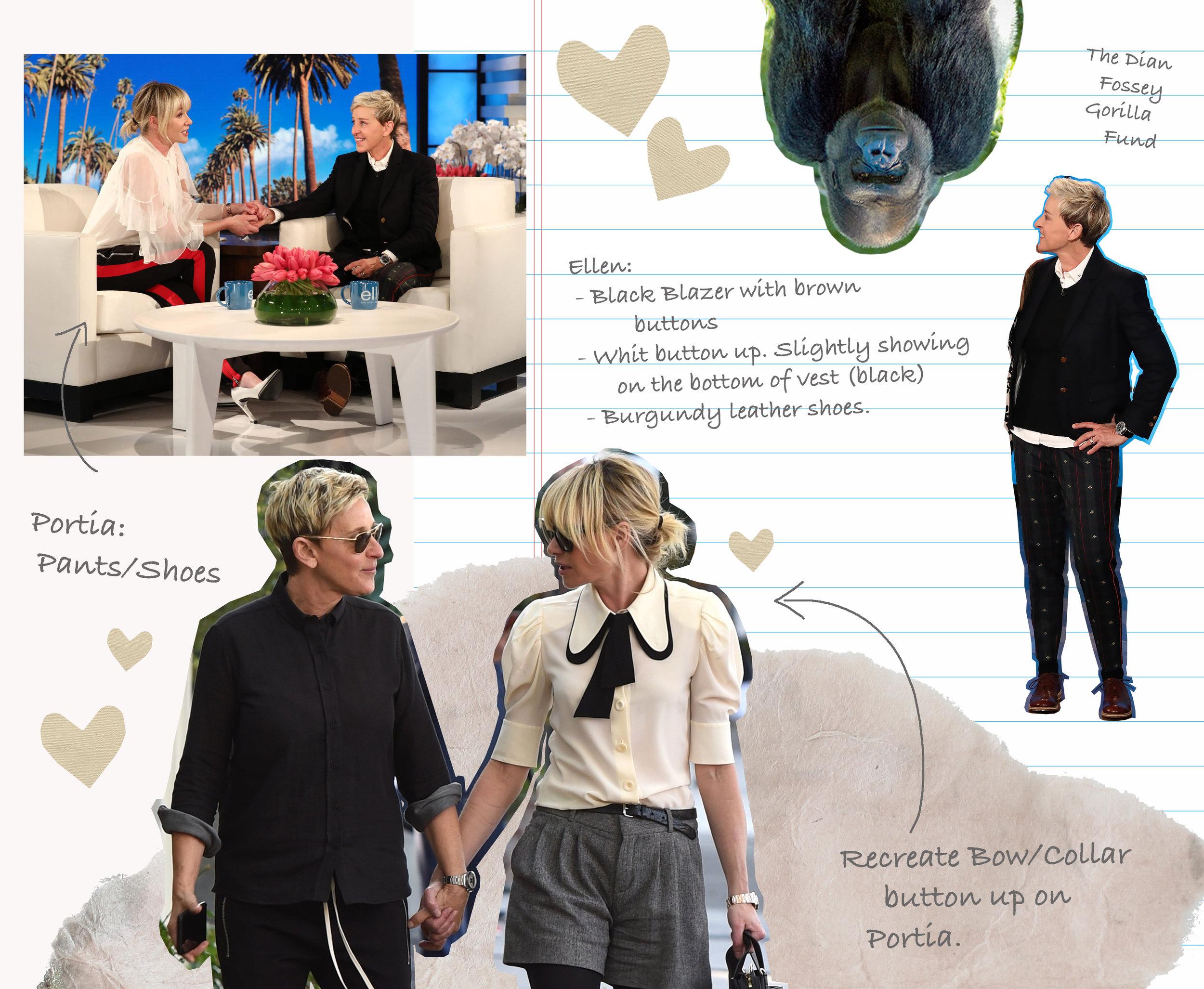 Customization process for Ellen DeGeneres and Portia de Rossi