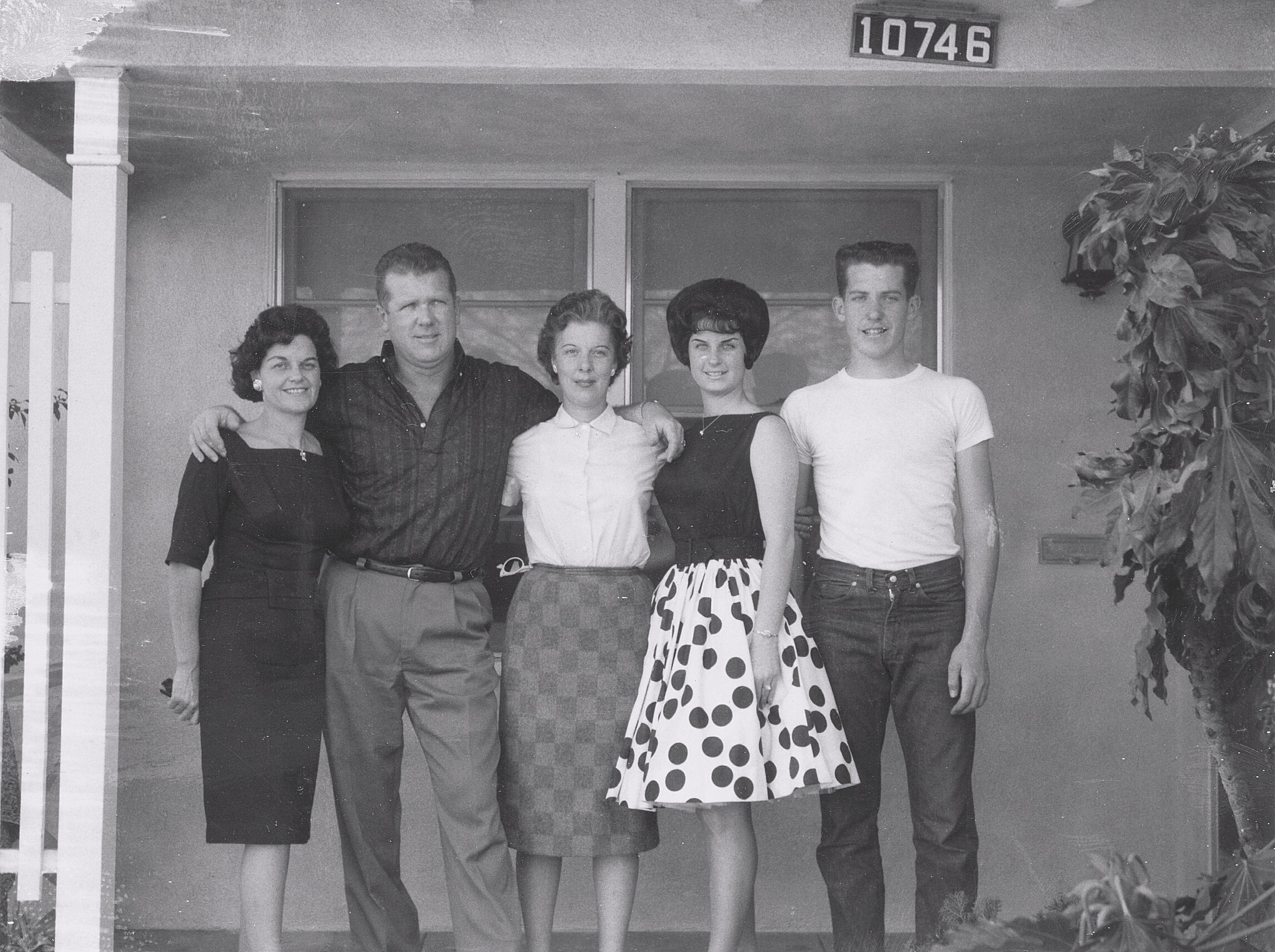 Bud and his family circa 1961- Kay, Bud, Bud's sister Jayne, daughter Marianne and son Bob.