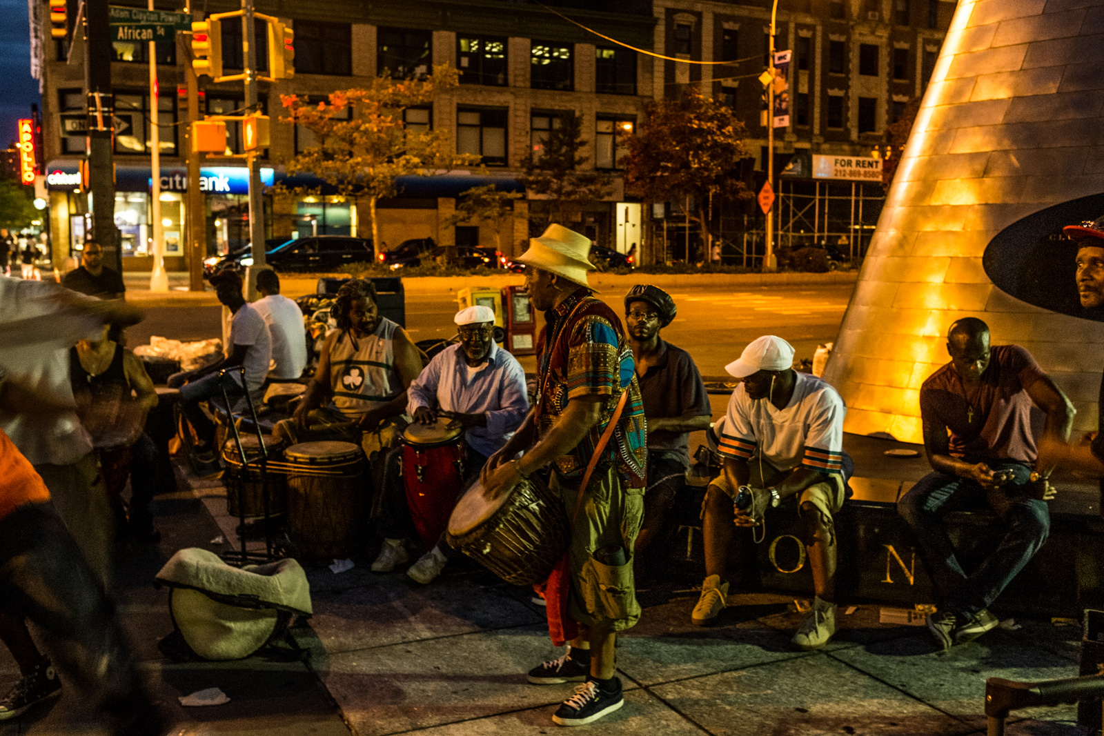Drummer's Circle at African Square on 125th and Adam Clayton Powell