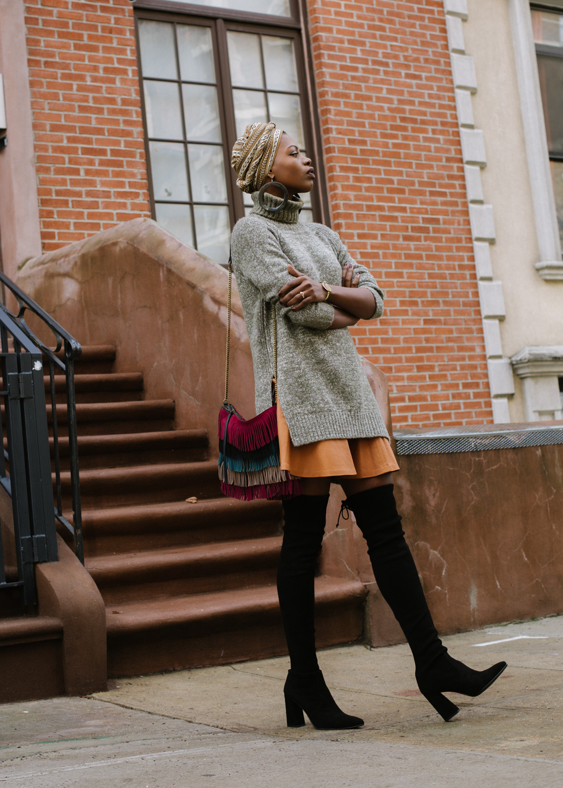 Oversized Sweater and Brown Leather Skirt \u2014 Finding Paola