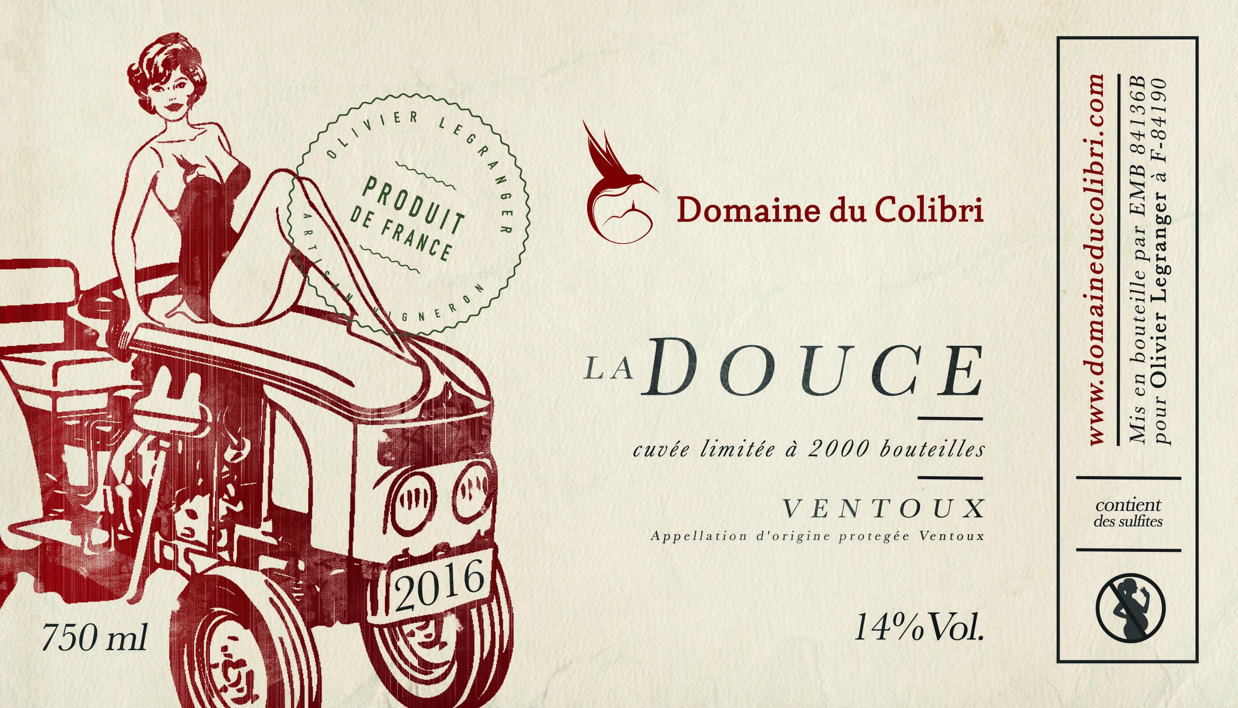 DOMAINE DU COLIBRI - ETIQUETTE  - la douce - Domaine du Colibri - rouge.jpg
