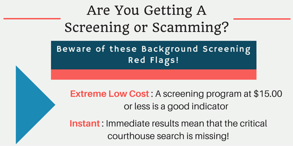 Screening or Scamming