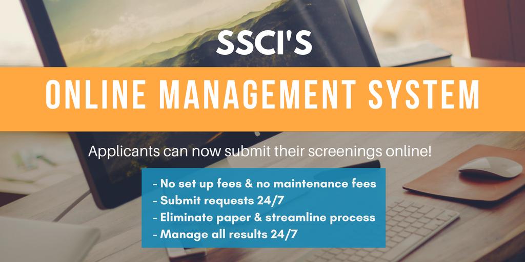 Background Checks online management