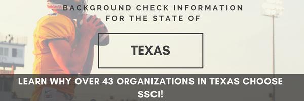 SSCI Texas Background Checks