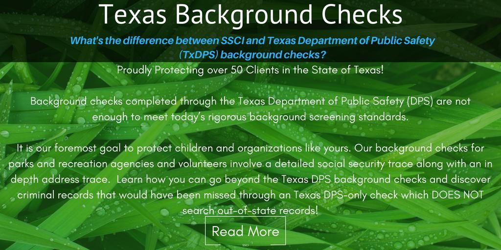 Texas DPS Background Checks