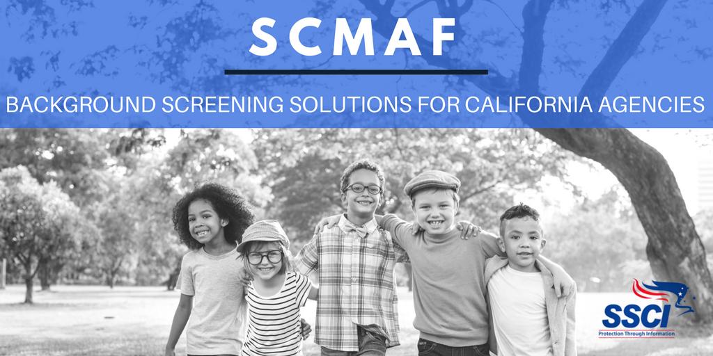 SCMAF CALIFORNIA LIVESCAN CHECKS