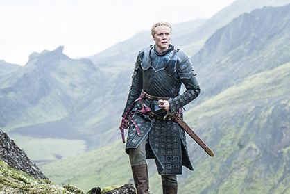 A shot of Brienne of Tarth in Iceland played by Actress Gwendoline Christie on the HBO mega hit series  Game of Thrones