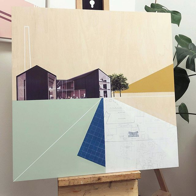 In progress 🖌 . . . . . . #commission #newpiece #newwork #newpainting #inspiredbyarchitecture #artistinresidence #architecture #architectureandart #paper #plans #building #newartwork #contemporaryartwork #scottishcontemporaryartist #contemporaryscottishartist #edinburghbased #studiospace #studiospaceinspo #creativeworkspace #creativestudio  #edinburghartist #scottishartist #architecturalartwork #scottishlandscape #contemporaryartist #contemporarylandscapeart #artworkcommission #buildingplans #complimentarycolours #artwork