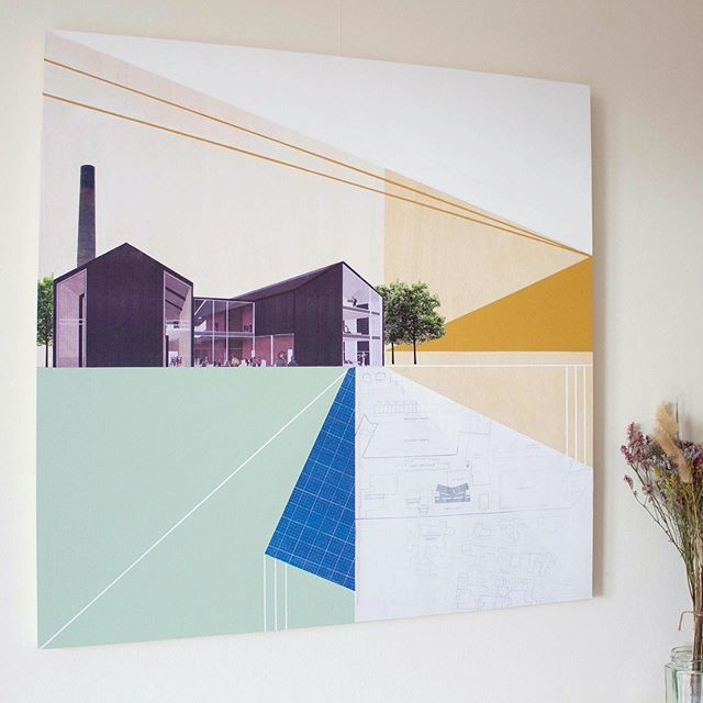 My finished commission for George Watson's College 🌻 . . . . . . #commission #newpiece #newwork #newpainting #inspiredbyarchitecture #artistinresidence #architecture #architectureandart #paper #plans #building #newartwork #contemporaryartwork #scottishcontemporaryartist #contemporaryscottishartist #edinburghbased #studiospace #studiospaceinspo #creativeworkspace #creativestudio  #edinburghartist #scottishartist #architecturalartwork #scottishlandscape #contemporaryartist #contemporarylandscapeart #artworkcommission #buildingplans #complimentarycolours #artwork