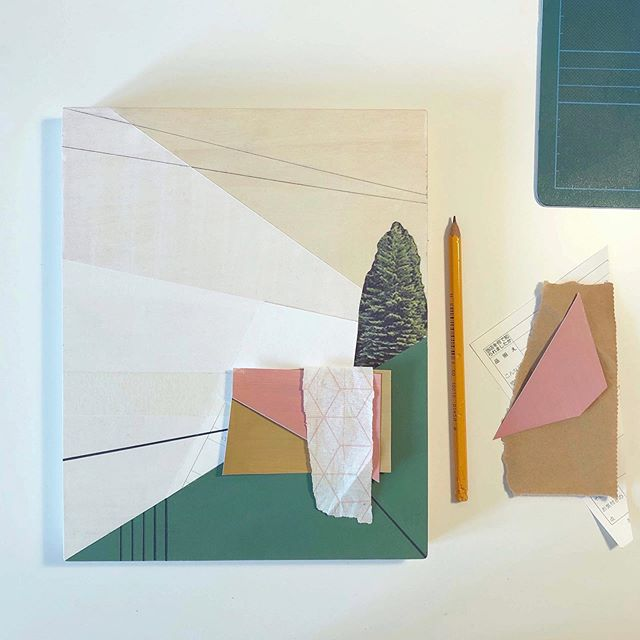 ✏️ . . . . . . .  #painting #paper #mixedmedia #lines #straightlines #neatlines #deskspace #studiospace #workspace #grids #graphpaper #forestgreen #green #pegboard #colours #colourcombos #pastelcolours #firtree #landscapes #geometric #geometriclandscapes #outdoors #plants #evergreentrees #inspiredbytheoutdoors #scotland #contemporaryscottishpainter #edinburghbasedartist #scottishartist