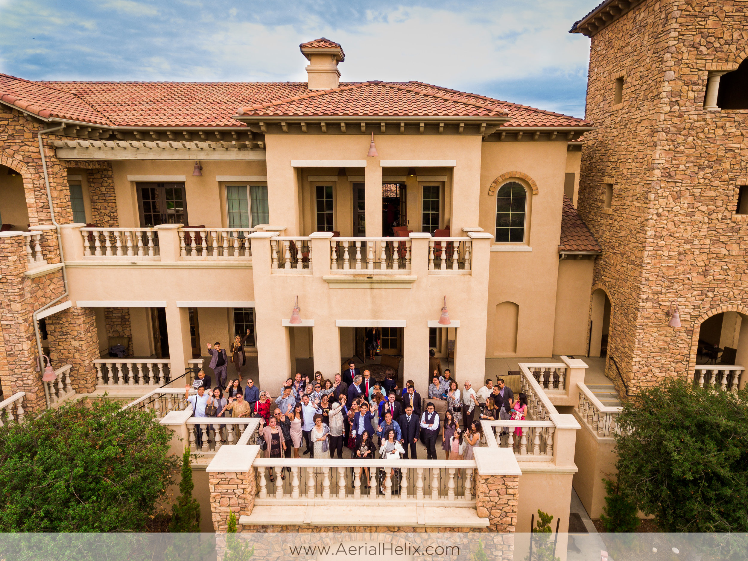 Wedding aerial photographer
