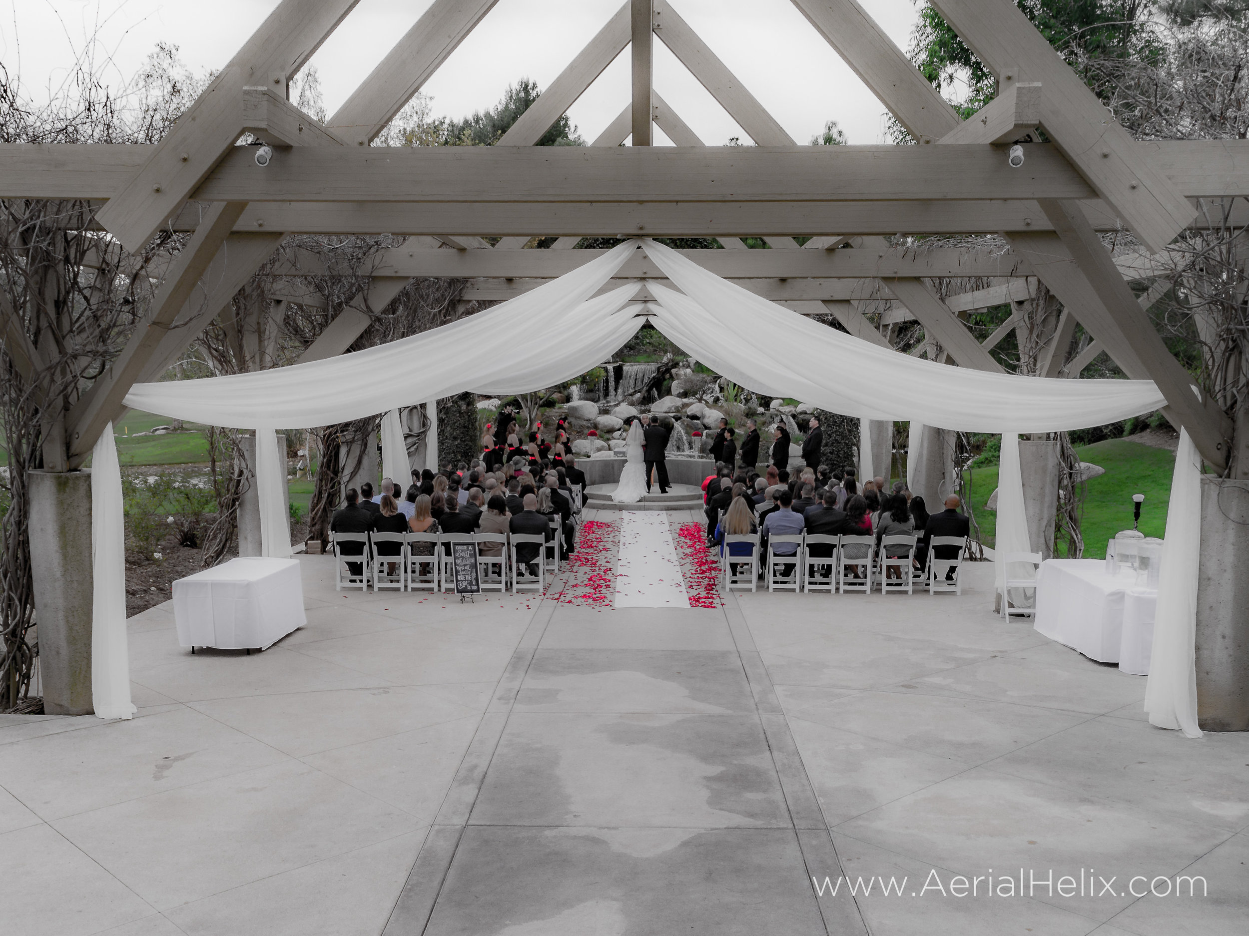 drone wedding videographer