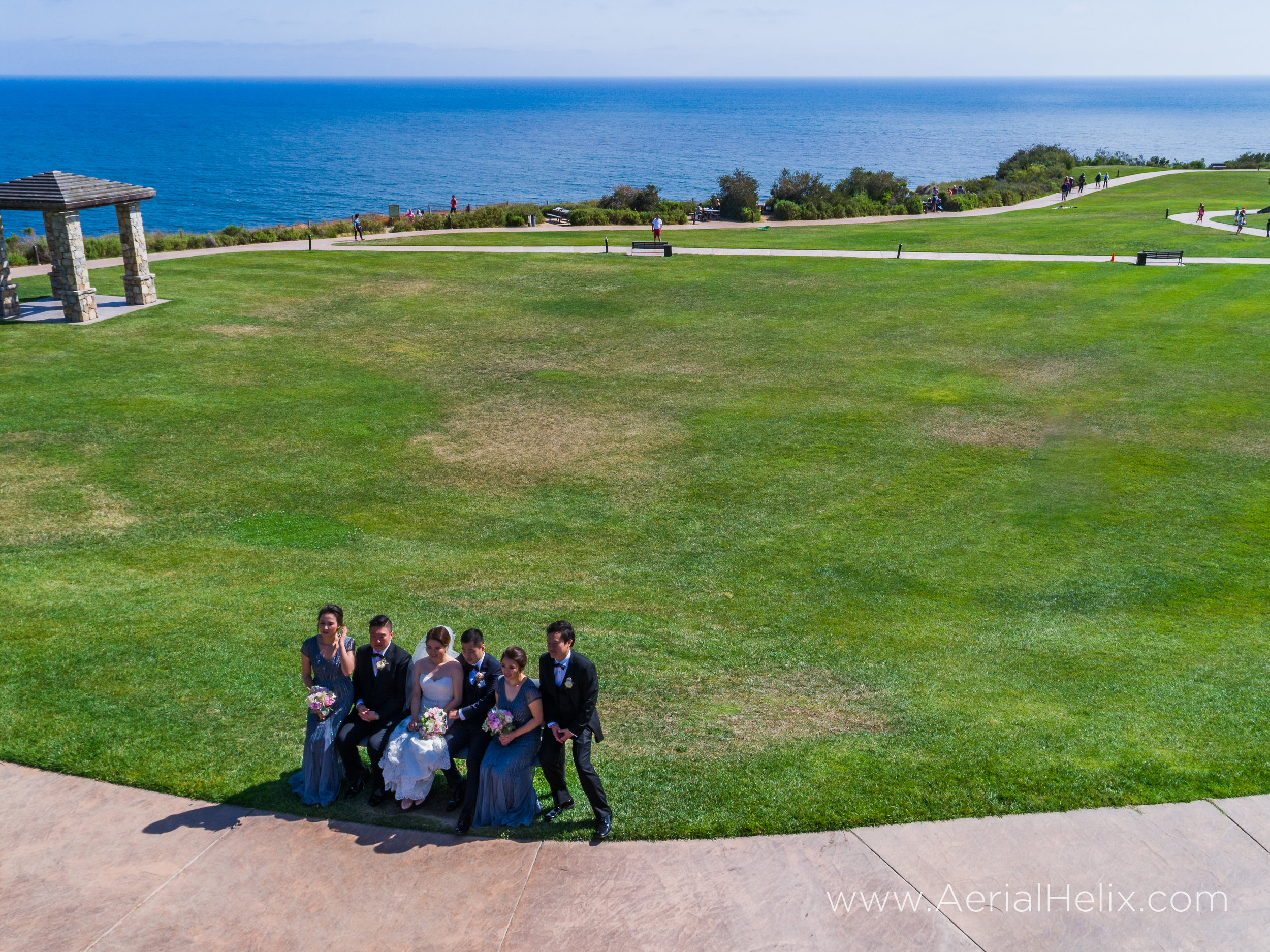 drone wedding videographer