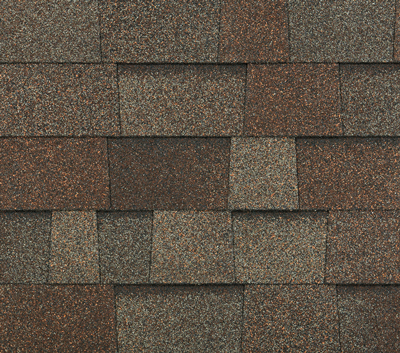 An example of a laminated architectural shingle such as Highlander or Legacy. This color is Heather.