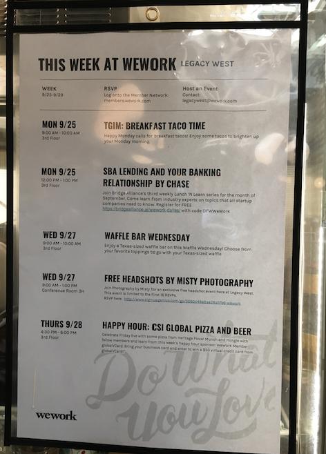 週代わりイベント表