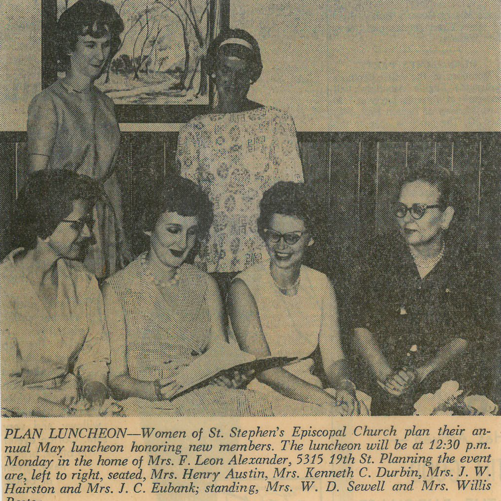 St. Stephen's ECW Group Organized in July 1958