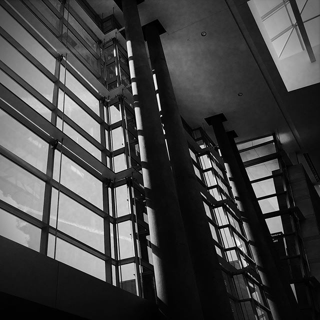 #bw #photography #patterns #lines #shadow #architecture #building #photographer #iphonesia #buildings #interiors #architecturephotography #iphoneonly #instagood #instadaily #geometry #art #glass #window #circles #lines #raleigh #raleighconventioncenter #nc #line @raleighconvention
