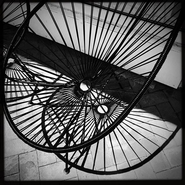 #bw #photography #street #chair #streetphotography #lines #patterns #perspective #shadow #photographer #iphonesia #iphoneonly #instagood #instadaily #geometry #line #circle #dc #georgetown #vacation #travel #art