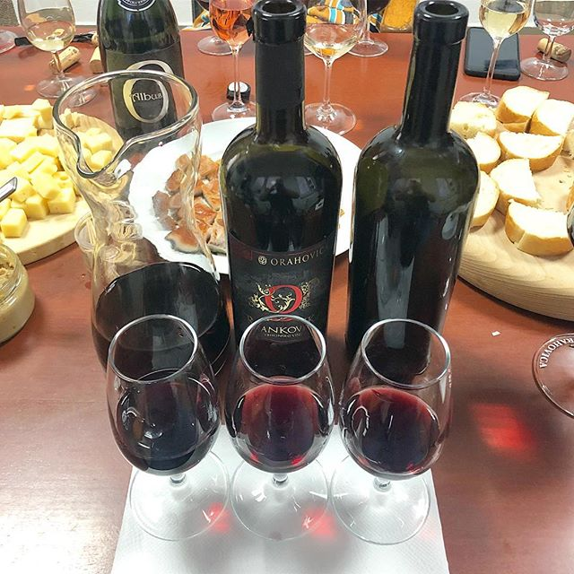 Vertical tasting of 2012 2013 2015 Frankovka (Blaufränkisch) — just three of many others this Saturday — with the wonderful enologist Ivana Nemet of #pporahovica. We experienced this wine first at @vinart_grand_tasting two years ago and are so happy to have finally made it to the location in Slavonia. Keep a look out: Orahovica can give you tasty and accessible intro-level wines as well as expertly-crafted, delicious gems. ... ... ... ... #winetime #wineoclock #wine #blaufränkisch #frankovka #croatia #croatianwine #slavonia #visitslavonia #winesofcroatia #hrvatska #tasty #orahovica #winetasting #winetravel