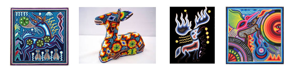 Samples of the Deer Symbolism in Huichol Art