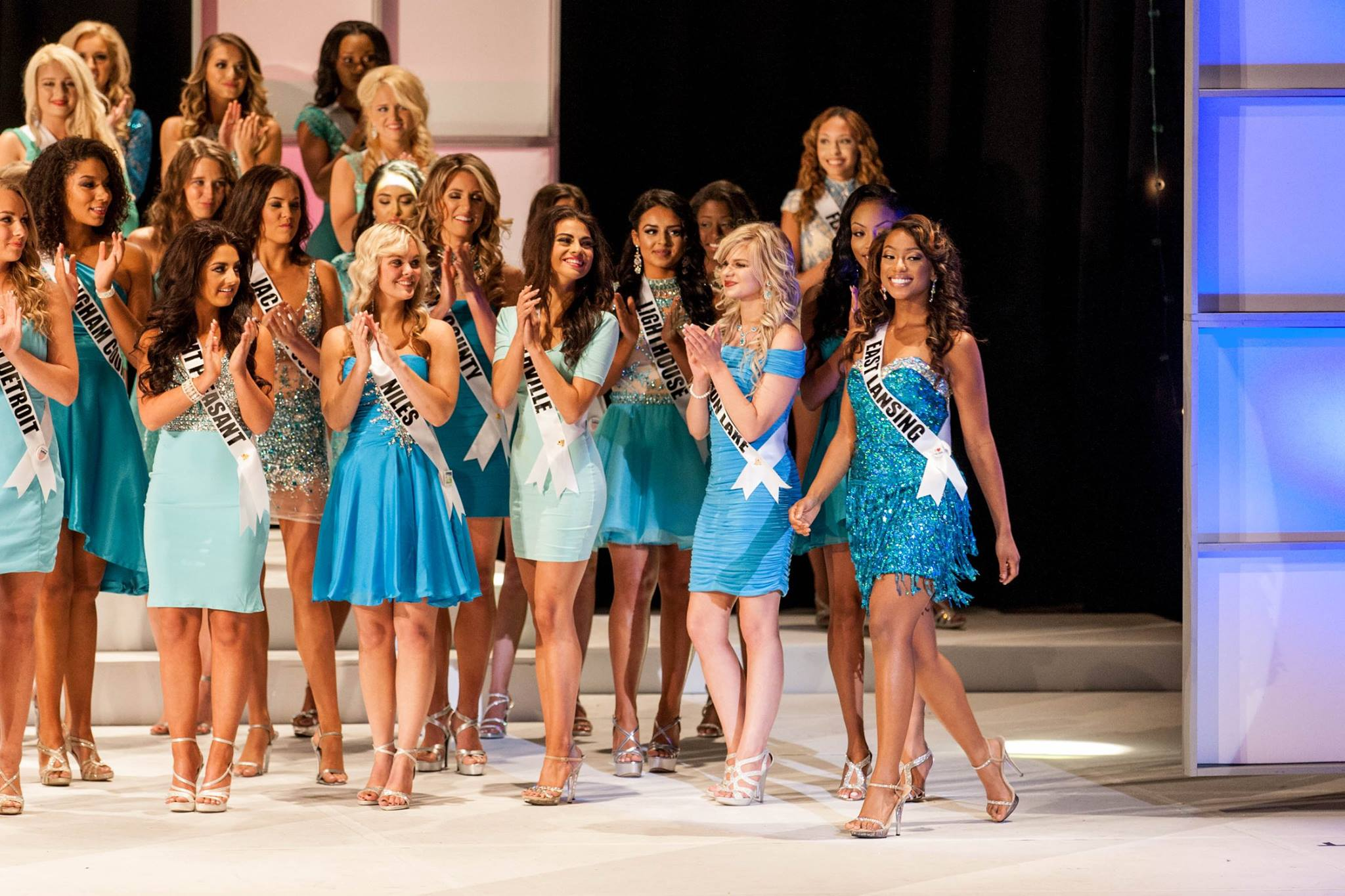 Ashley Jones being announced to the Top 15 at Miss Michigan USA 2016