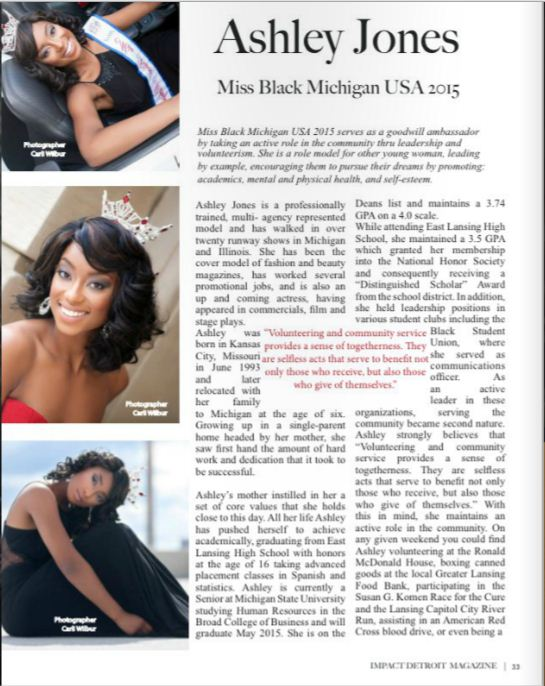 Magazine article featured in Impact Detroit