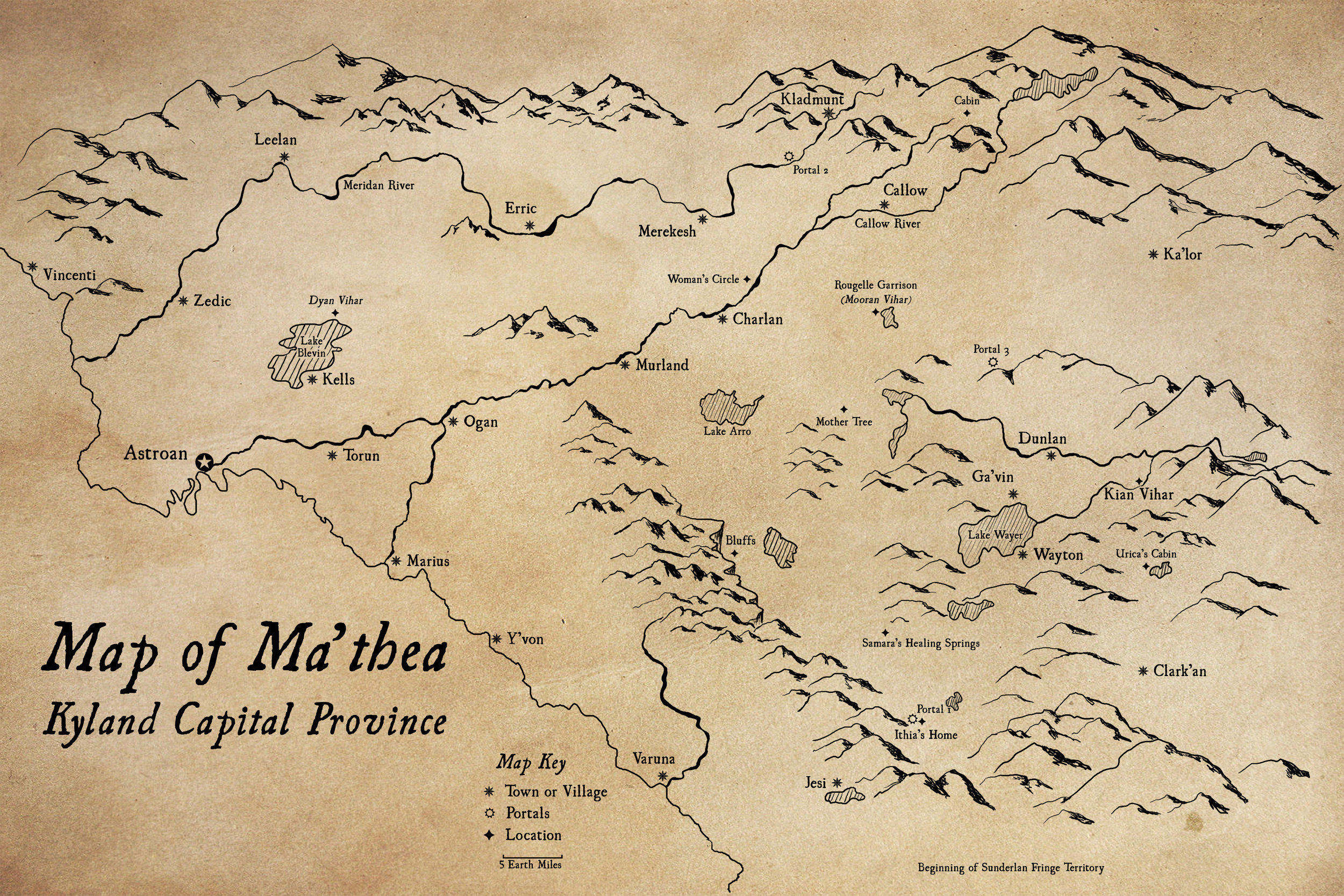 Map of Ma'thea - Click to Enlarge