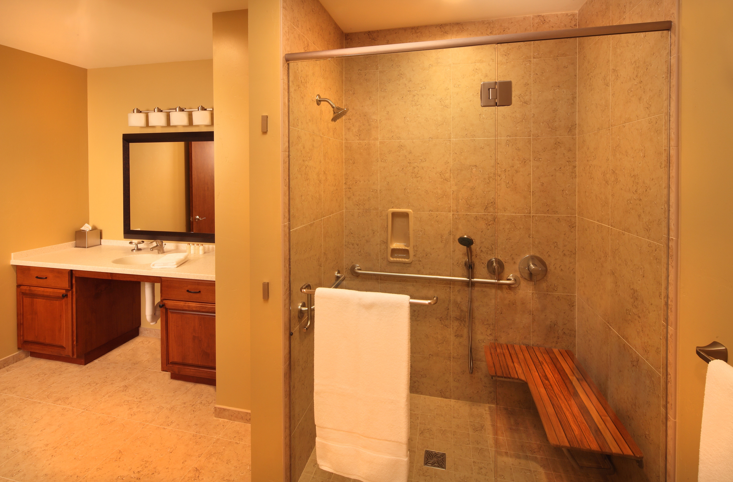 Two Thirty-Five | Orchard Suite ADA bathroom