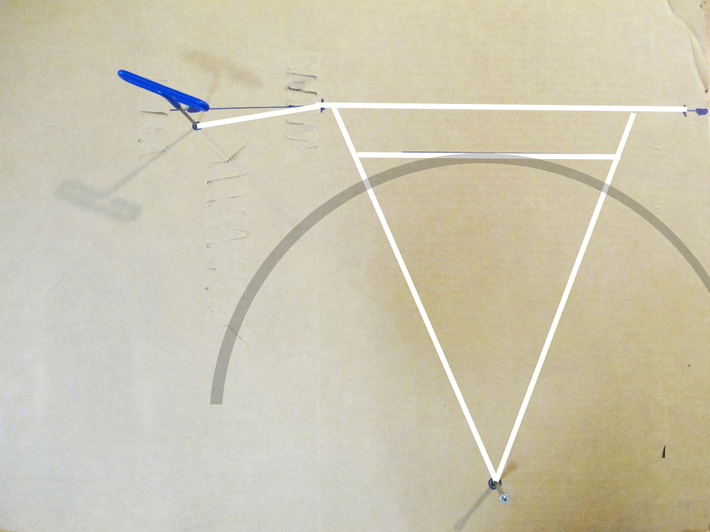Sketch the side view of your rack and be sure to include, either by drawing or notation, any details such as pannier bars, light mounts, etc.
