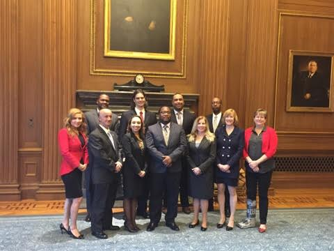 Kerri (front row, second from right) was one of eleven attorneys sworn in by the United States Supreme Court in April 2016.