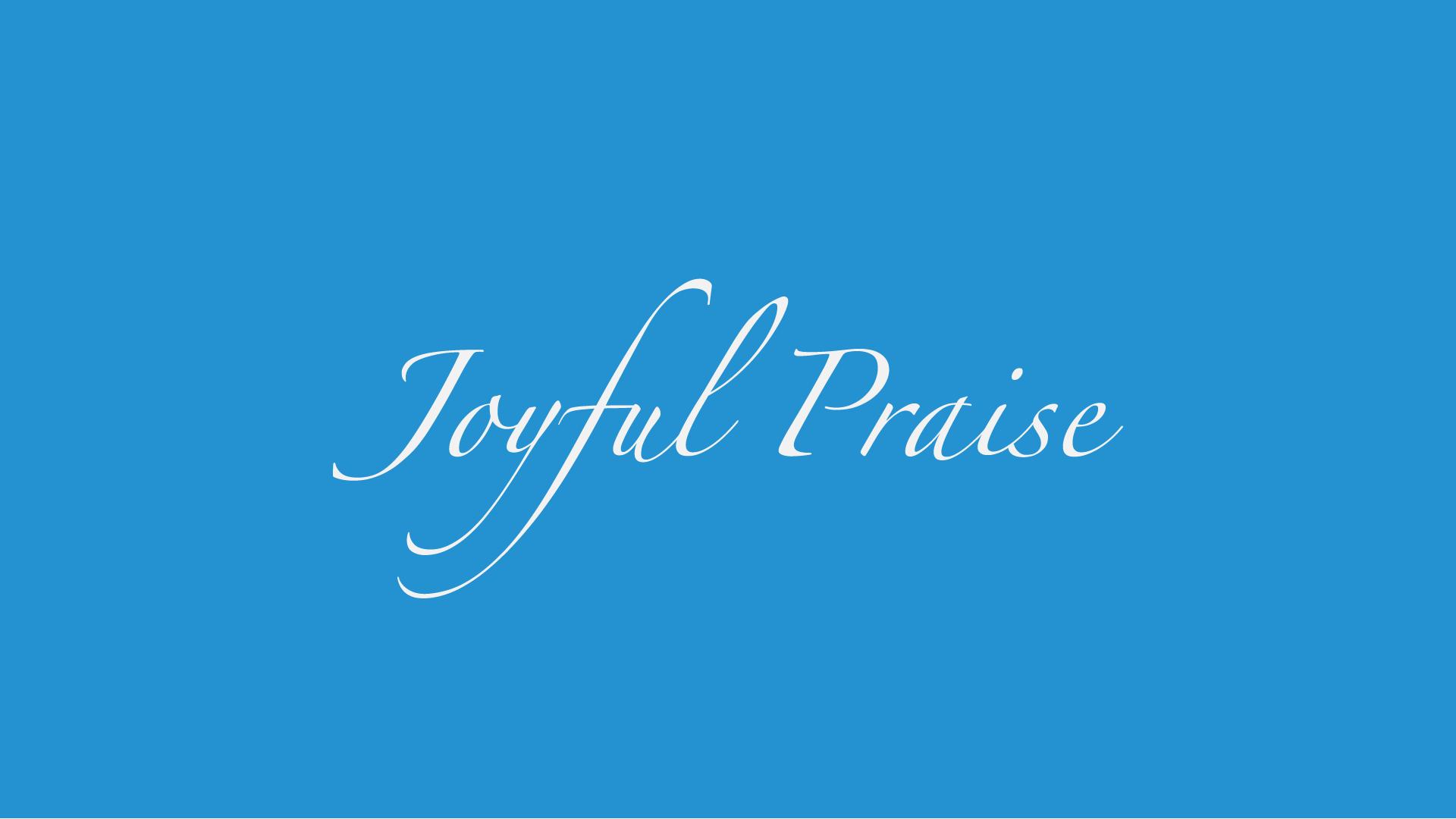 Women's Praise & Worship Ensemble.  1st & 3rd Wednesday, 8:30 pm (Choir Room)