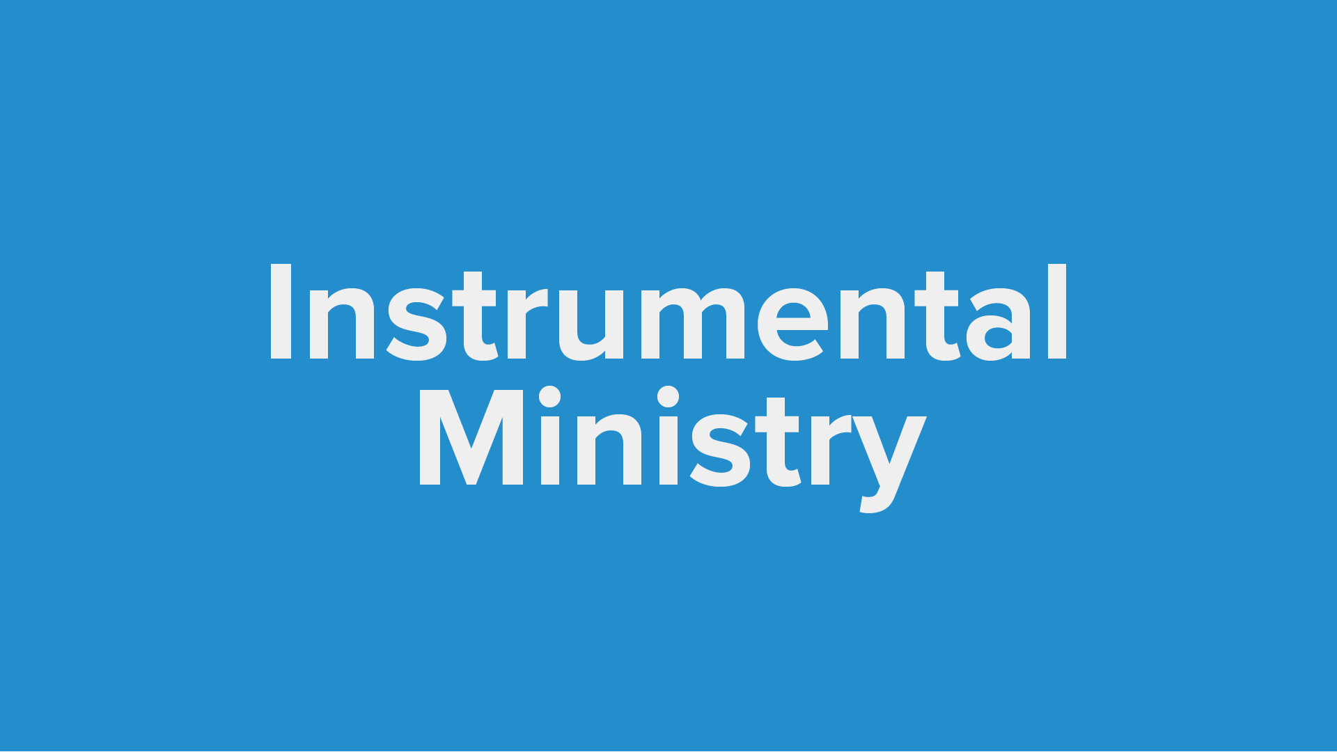 Instrumental Ministry Proficient Players  Seasonal