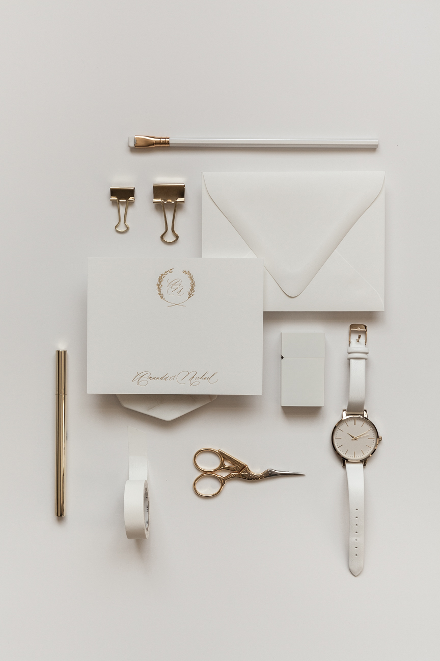 Gold Foil Printing + Ivory Envelope